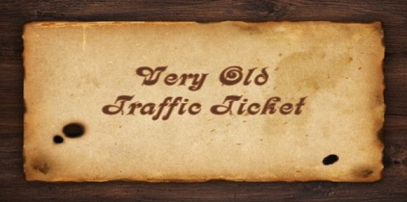 old traffic ticket