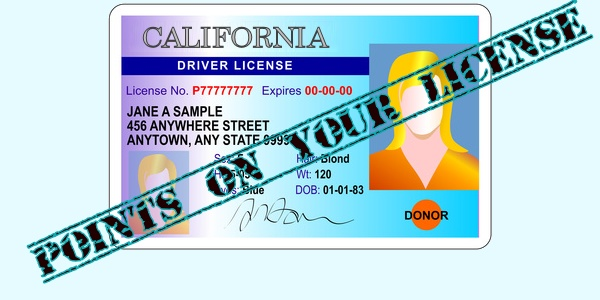 points on your license | california vc violations